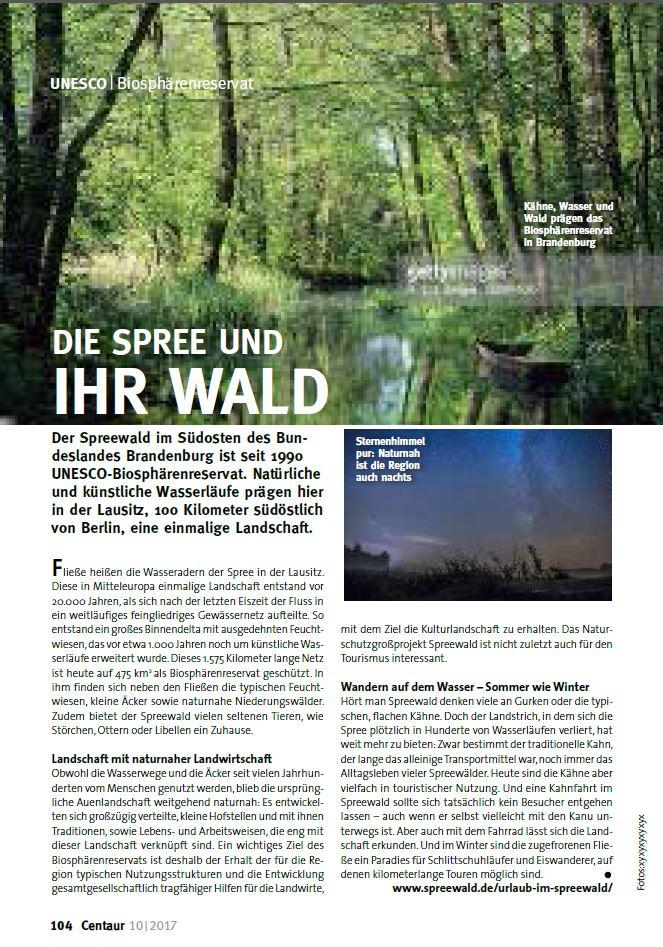 Milchtrasse über dem Biospährenreservat Spreewald für die Zeitschrift Centaur Projekt, Ausgabe 04/2018