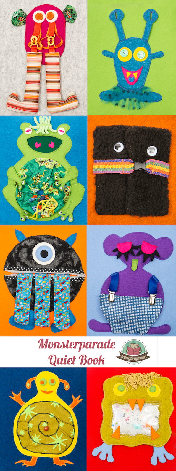 Quiet book how to make a monster book softbook felt sewing