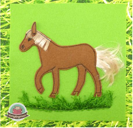 Pferdeschwanz für einen Pferdeschwanz