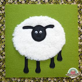 Dickes Schaf mit Kulleraugen