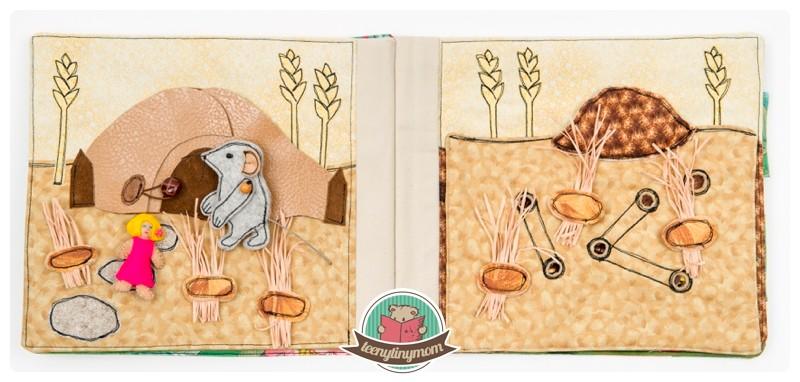 Spielbuch Däumelinchen Stoffbuch Tactile book Quiet book
