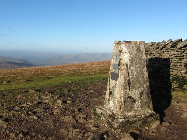 Trig point on Whernside summit