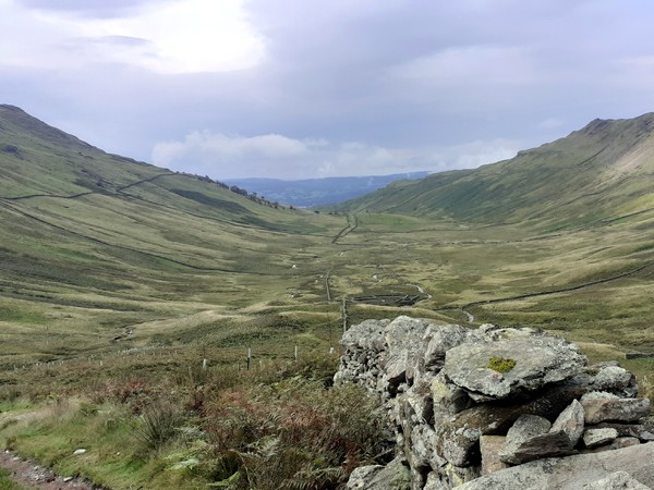 View down Scandale on guided walk