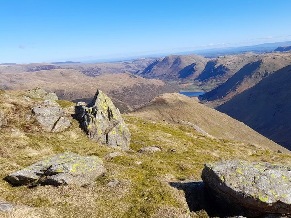 View from summit of Red Screes