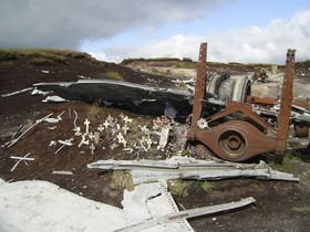 Wreckage of B29 Superfortress