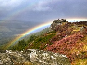 Rainbow over Curbar Edge