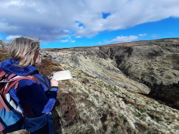 Navigation course in the Peak District
