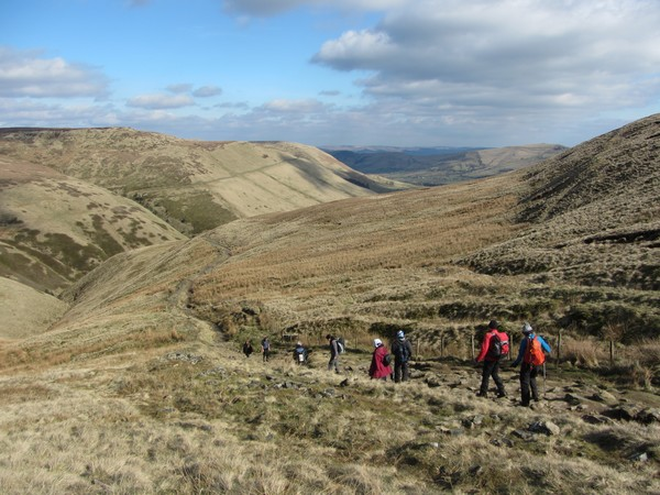 The Pennine Way path, Kinder Scout