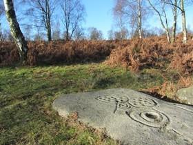 Rock art near Gardom's Edge