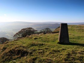 Corbar Hill, Buxton, trig point