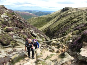 Trek Training on Kinder Scout