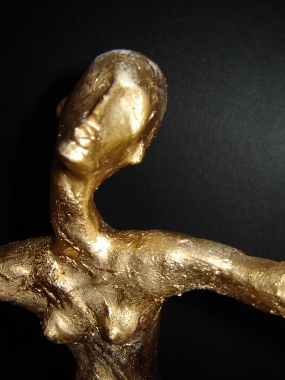 """"""" Die Oscar """" 0,55 m   Mischtechnik / Skulptur / Akt / Frau"""