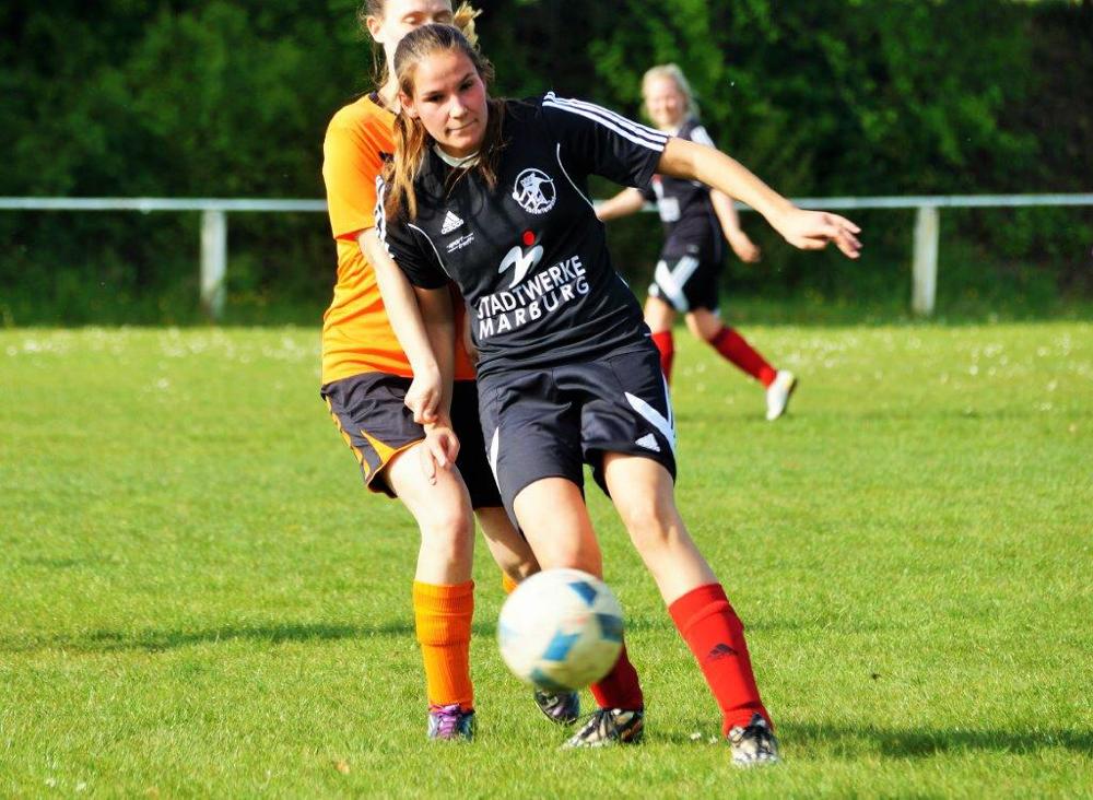 Carla Till, Neuzugang vom FC Allertshausen, kennt den Ebsdorfergrund noch auch Zeiten der Jugendspielgemeinschaft