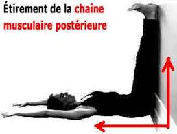 Etirements de la chaine musculaire postérieure allongé