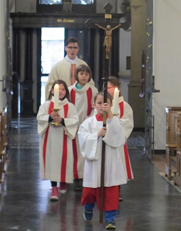 In der Beichtkapelle feierten wir mit Kaplan Scholven eine Heilige Messe.
