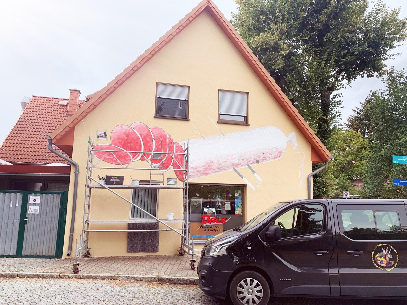 Fleischerei Graffiti Geschäftsgestaltung
