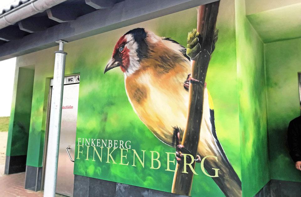 Fassadenbemalung aber wie Graffiti wandkunst Airbrush Dresen Berlin