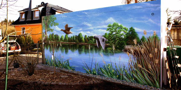 Wandkunst Bremen -Fassadengestaltung 3d
