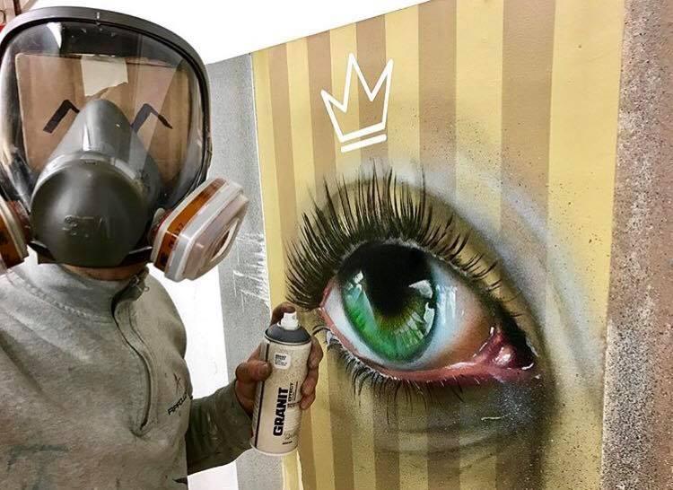 Hat sich der Graffiti teufel eingeschlichen /Graffiti #Airbrush