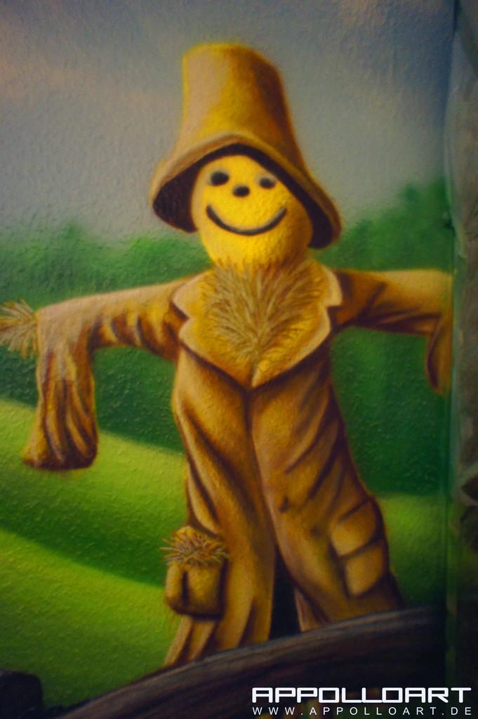 Kinderzimmergestaltung Ideen mit Graffiti und Wandkunst Urwald Liane Potsdam