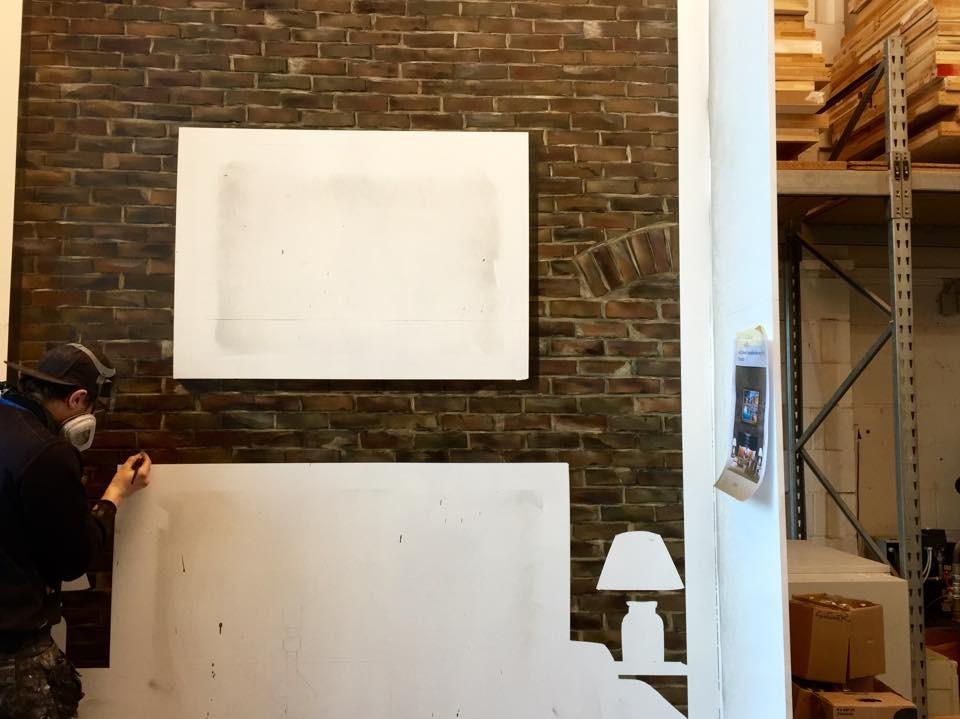 Messestand mit malerei graffiti wandmalerei airbrush for Raumdesigner app
