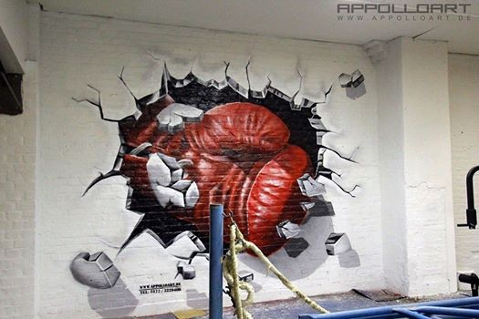 Tv Auftritt im Rbb -Sendung Zipp 96 Stunden -Boxclub Sportverein Sporthalle Trainingslager - Wandgraffiti