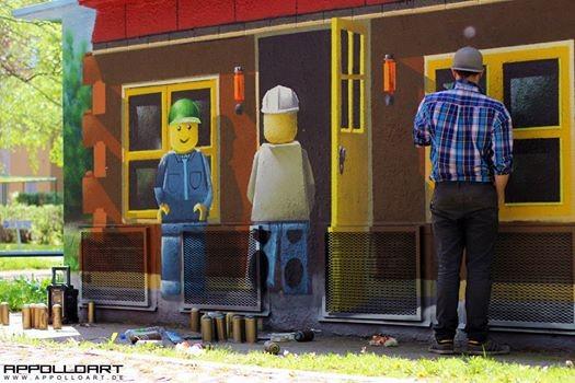 Graffiti Fassadenkunst
