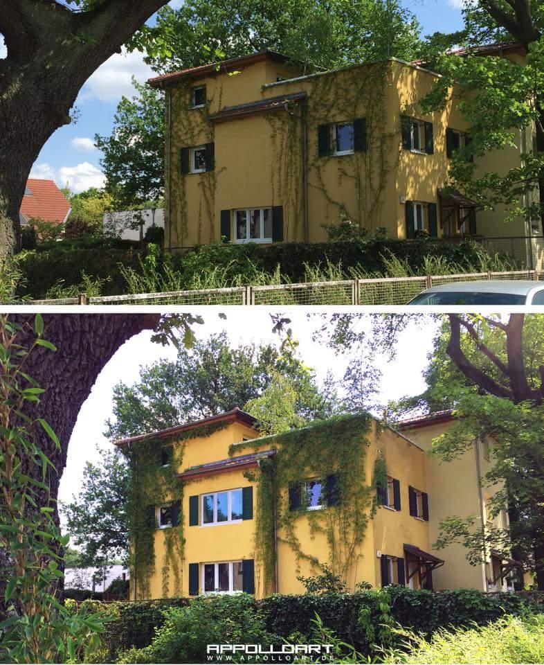 Fassadengestaltung und Airbrush wandgestaltung auf 3d Optik