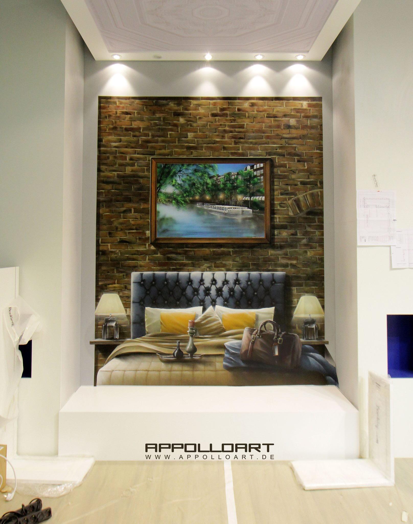 illusion schlafzimmer appolloart graffiti airbrush wandgestaltung fassadengestaltung in 3d. Black Bedroom Furniture Sets. Home Design Ideas