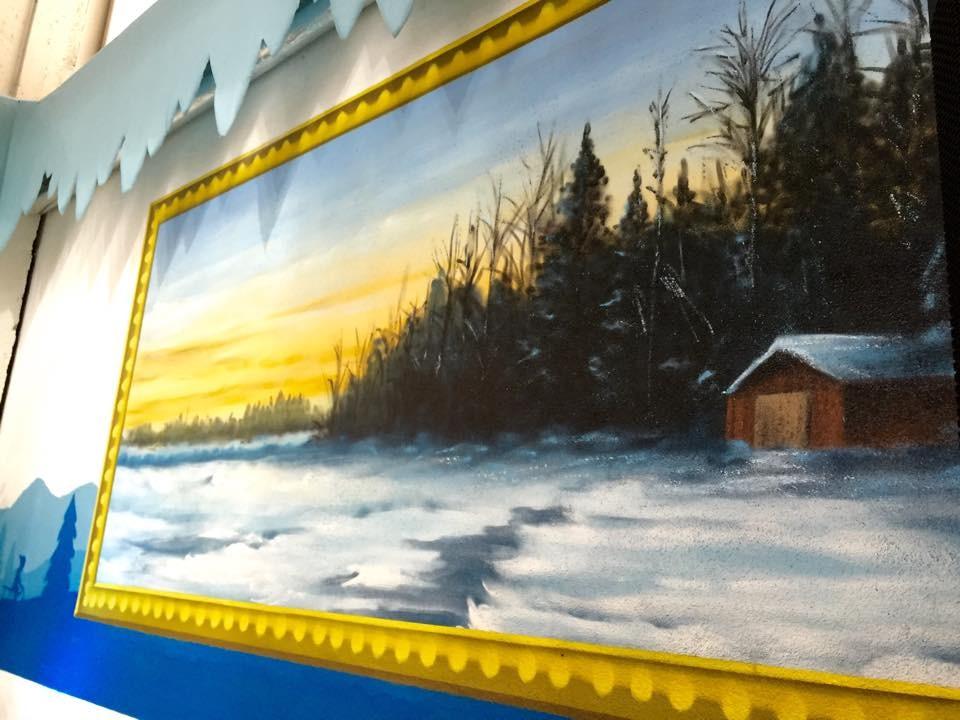 Stromhaus Malerei als 3d Bild Graffiti als Grundlage für Raumgestaltung