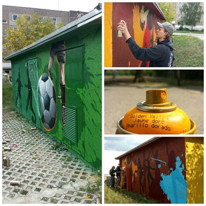 brandenburg an der Havel Stromhaus gestaktung mit graffiti kunst künstler