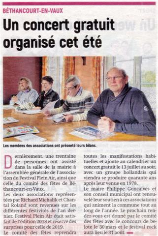Article de presse / l'Aisne Nouvelle.