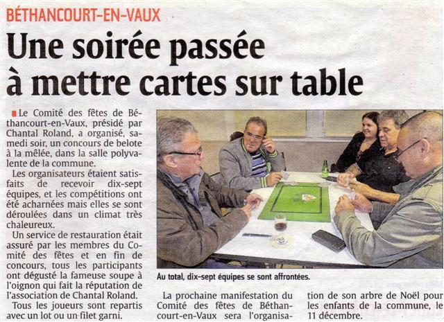 Article de presse : Aisne Nouvelle.
