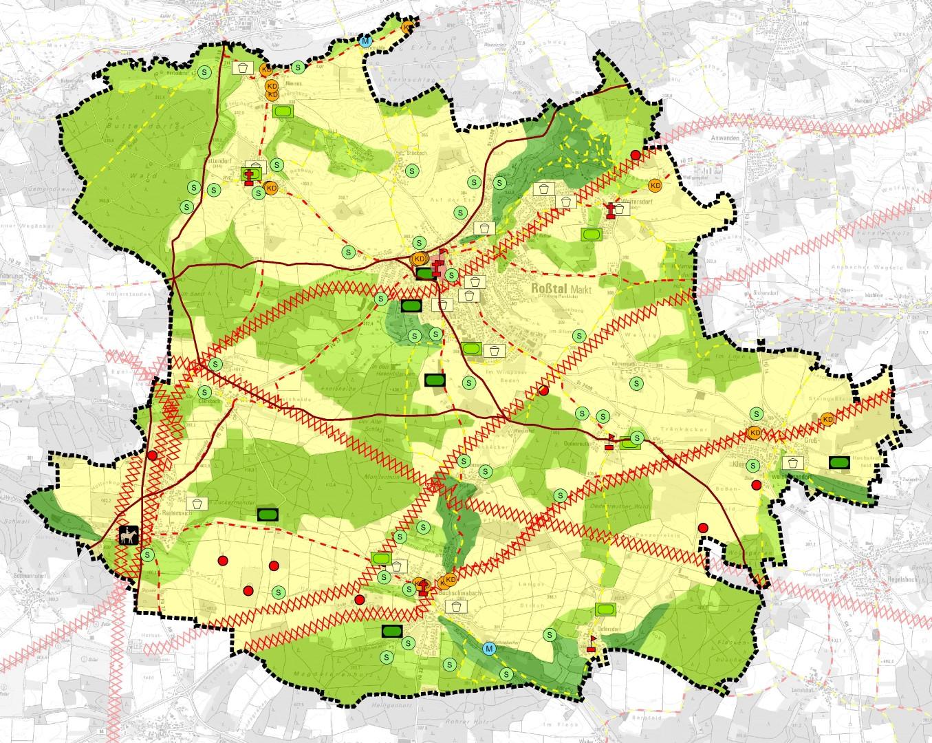"""FNP Roßtal Themenkarte """"Landschaftsbild"""""""