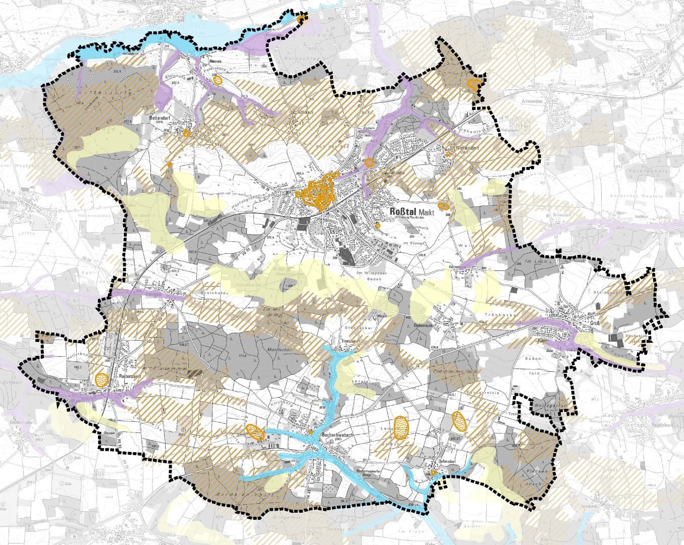"""FNP Roßtal Themenkarte """"Boden"""""""