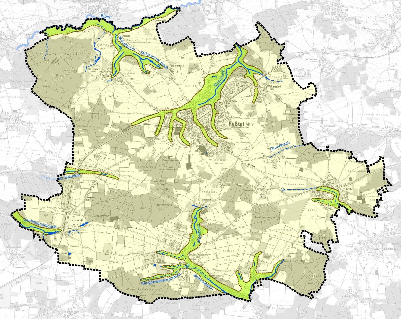 """FNP Roßtal Themenkarte """"Naturräume"""""""