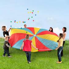 1 x Schwungtuch 305cm für bis zu 12 Kinder mit Bällen