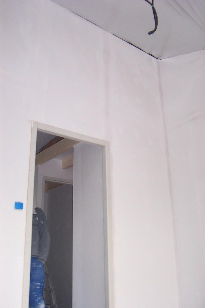 plaque pré-peinte bande en cours de séchage on observe la dispartion des bandes en séchant!