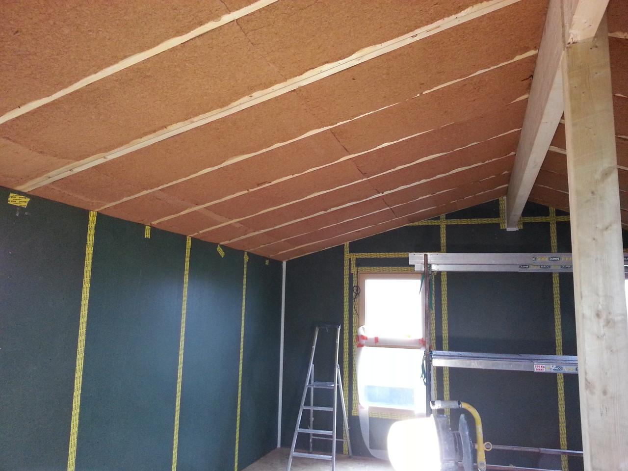 laine de bois en 2 couches 100+120mm