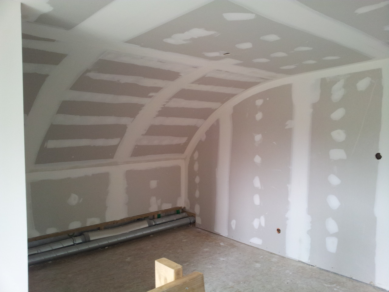plafond arrondi en placo 6mm double couche