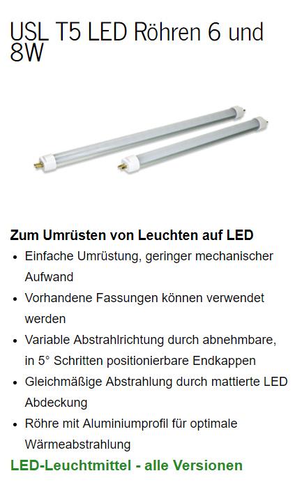 Umrüsten von Leuchten auf LED