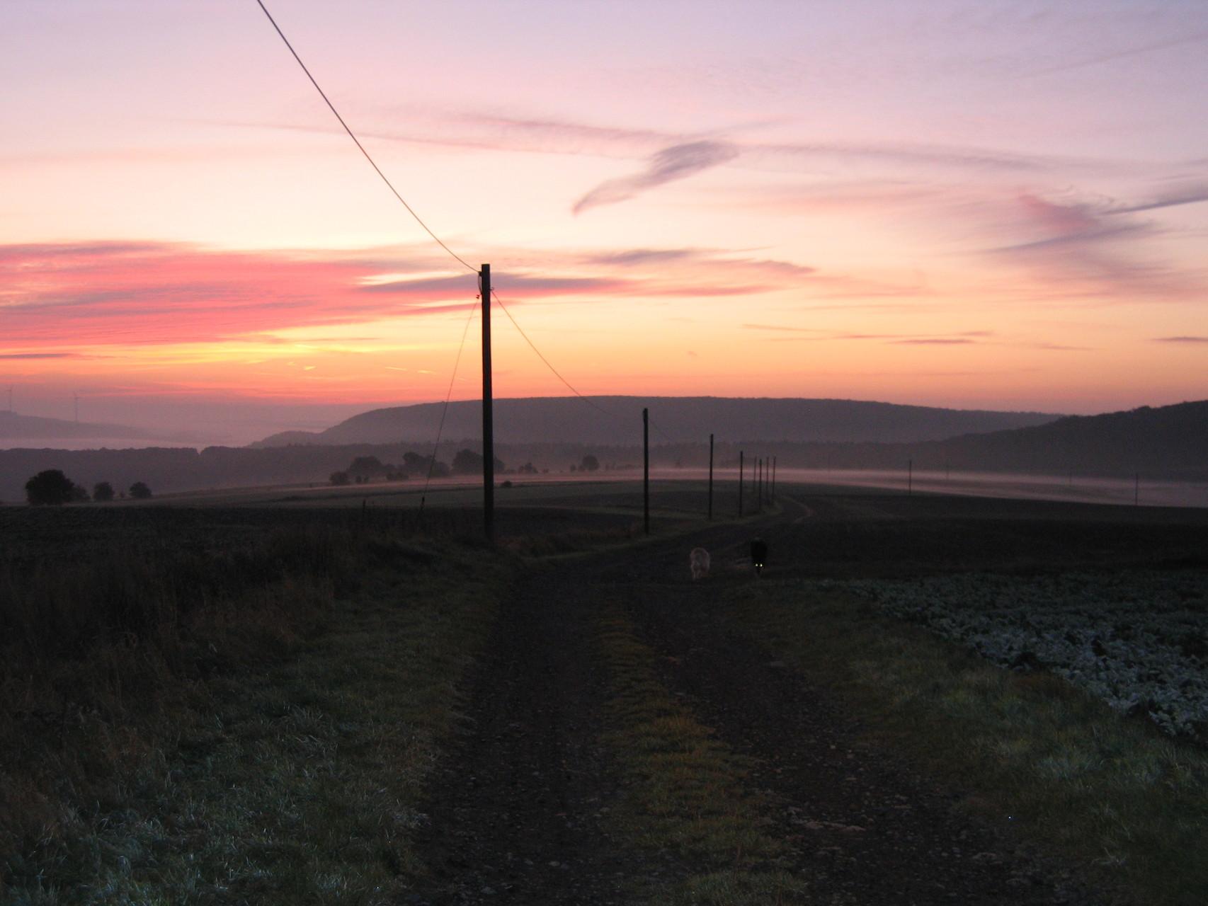 Sonnenuntergang in Odernheim