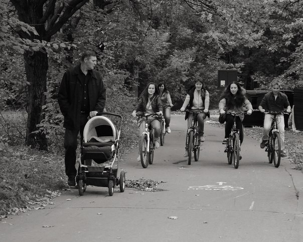Велосипедная прогулка в Кусковском парке.