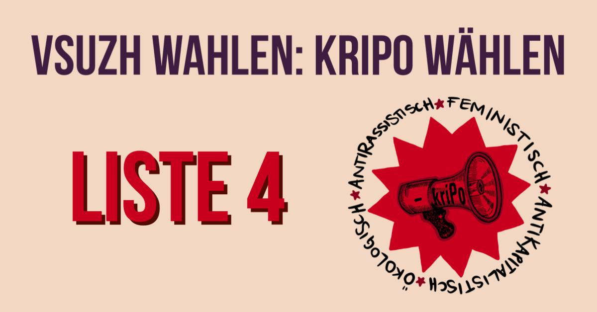 radikal kriPo (Liste 4) wählen!