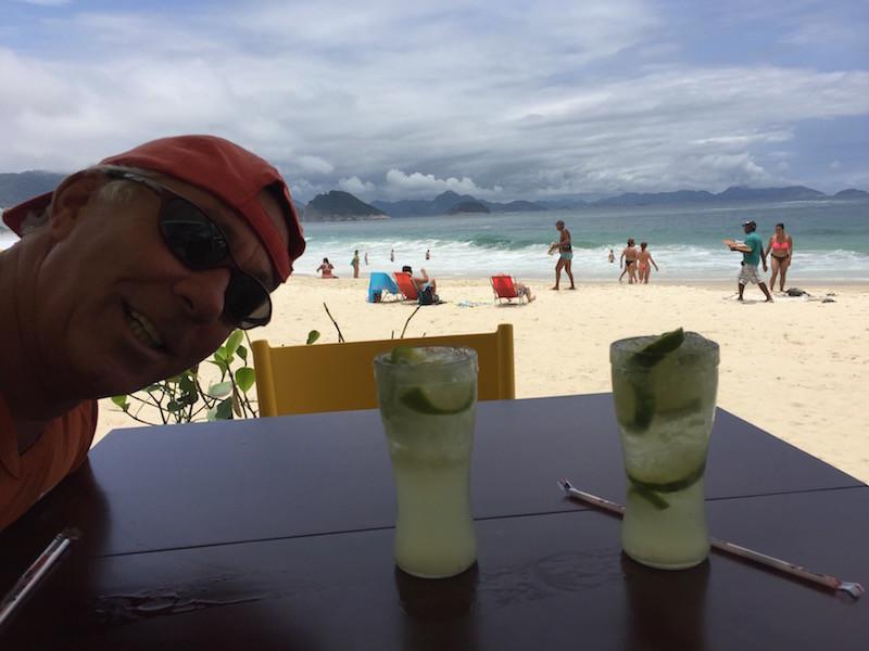doch dann beim Caipirinha an der Copa Cabana haben wir wieder tolles Wetter