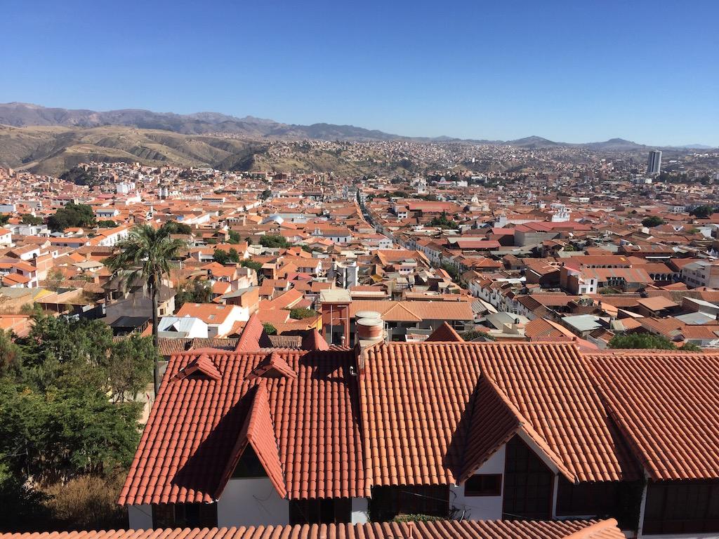 Ein herrlicher Blick von der Recolota (einstiges Kloster) über die Stadt Sucre!