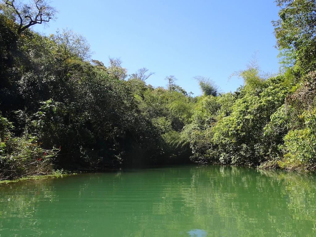 Der Rio Miranda, die Wasserfälle bleiben noch verborgen....