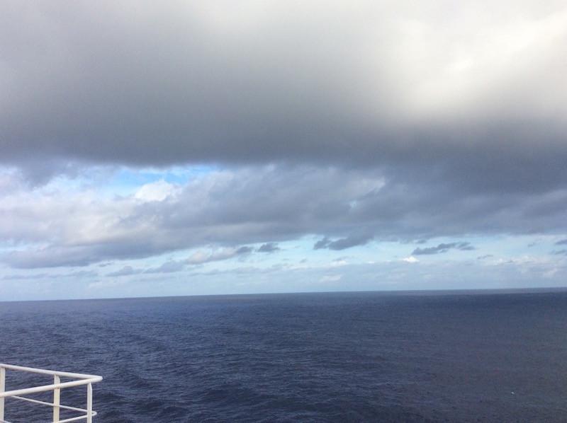 die Wolken ziehen in Eiltempo weg, gut so!