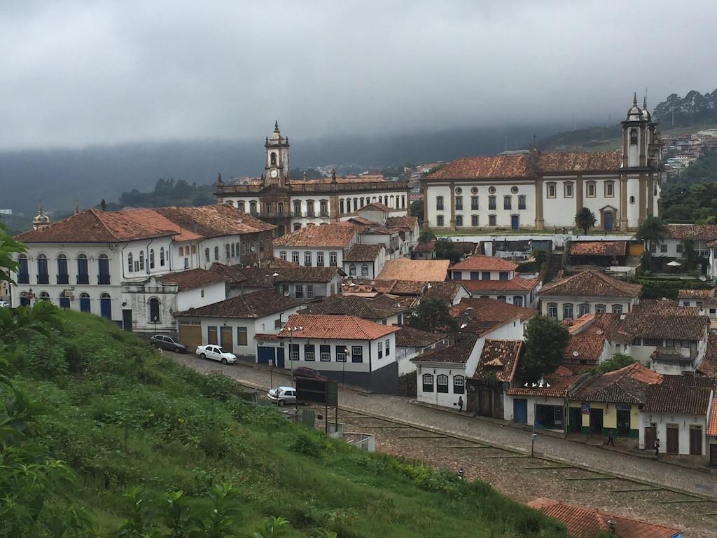 Sicht zum Kloster von Ouro Preto