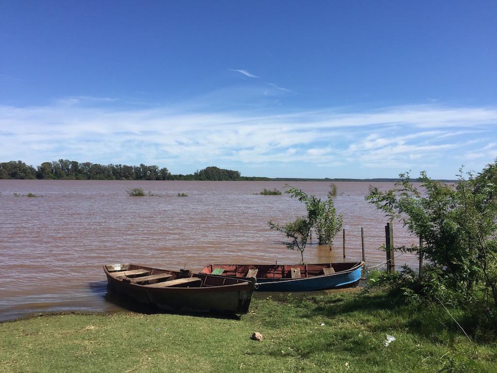 viel Regen in Südbrasilien, die Flüsse bringen viel Wasser